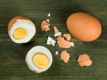 4 свежих трудных вареного яйца Стоковая Фотография