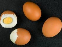 4 свежих трудных вареного яйца Стоковые Изображения RF