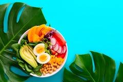 Свежо сваренный салат шара Будды стоковое изображение