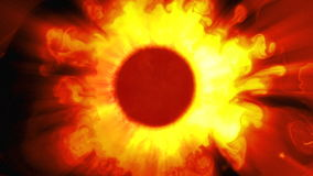 Сверкающее солнце иллюстрация вектора