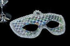 сверкнать sequin маски серебряный стоковое изображение