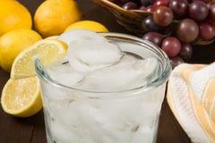 Сверкная вода с лимоном Стоковая Фотография