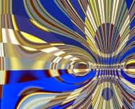 Сверкная голубые красные формы золота серебряные коричневые, яркая абстрактная предпосылка и текстура иллюстрация вектора