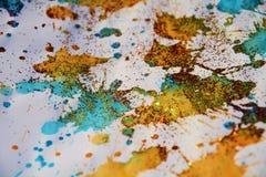 Сверкная золото красные пятна текстурируют, вощиет предпосылку зимы Стоковые Фотографии RF