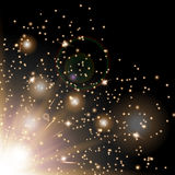 Сверкная золото звезд Стоковое Изображение