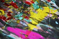 Сверкная контрасты краски темные золотые, предпосылка waxy краски творческая стоковое фото rf