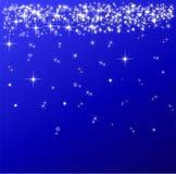 Сверкная красная иллюстрация предпосылки рождества Стоковая Фотография
