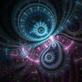 Сверкная красочный clockwork на темной предпосылке Стоковое фото RF