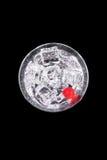 Сверкная напиток в стекле Мартини с вишней Стоковая Фотография RF
