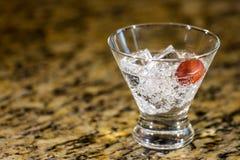 Сверкная напиток на льде с плодоовощ Стоковое Фото