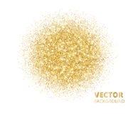 Сверкная предпосылка, золотой взрыв яркого блеска Пыль вектора на белизне Стоковое Изображение