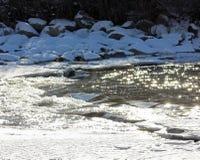 Сверкная река зимы стоковая фотография