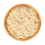 Сверкная рис терра вулкана в деревянном шаре над белизной Стоковое Изображение