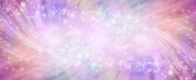 Сверкная розовое swishing женственное знамя предпосылки Стоковое Изображение