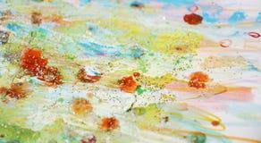 Сверкная света, желтая пастельная абстрактная предпосылка Стоковые Фотографии RF