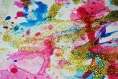 Сверкная света и предпосылка акварели краски Стоковое Изображение