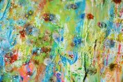 Сверкная света, оранжевая зеленая голубая пастельная абстрактная предпосылка Стоковые Фото