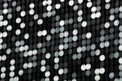 Сверкная серебряные sequins Стоковое фото RF