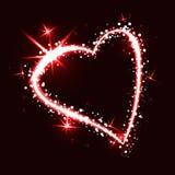 Сверкная сердце на темной предпосылке Иллюстрация вектора