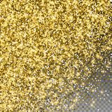 Сверкная confetti золота роскошный сверкная Scattere иллюстрация вектора
