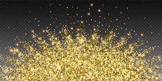 Сверкная confetti золота роскошный сверкная Scattere иллюстрация штока