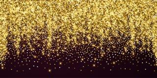 Сверкная confetti золота роскошный сверкная Scattere бесплатная иллюстрация