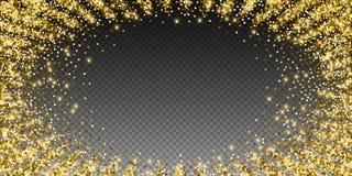 Сверкная confetti роскоши золота сверкная Scattere иллюстрация штока