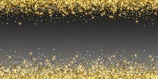 Сверкная confetti роскоши золота сверкная Scattere бесплатная иллюстрация