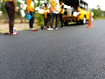 Сверлить для дорожного покрытия асфальта стоковая фотография rf
