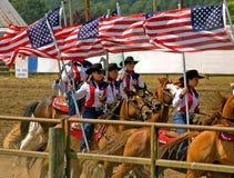 сверло пастушкы horseback объениняется в команду Стоковые Фотографии RF