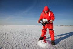 сверля льдед Стоковое фото RF