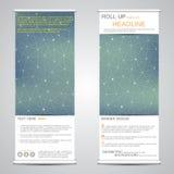 Сверните вверх, вертикальное знамя для представления и издание абстрактная предпосылка Стоковые Фотографии RF