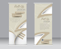 Сверните вверх шаблон стойки знамени Абстрактная предпосылка для дизайна, Стоковые Изображения