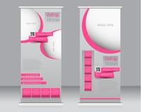 Сверните вверх шаблон стойки знамени Абстрактная предпосылка для дизайна, Стоковое Изображение