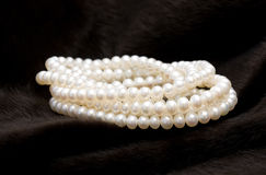 свернутая перлой белизна шнура Стоковая Фотография