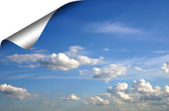 свернутое небо вверх Стоковые Фото