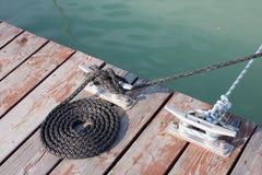свернуто спиралью опрятно rope стоковые изображения rf