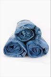 свернутые джинсыы Стоковое Изображение RF