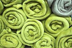 свернутые полотенца Стоковая Фотография
