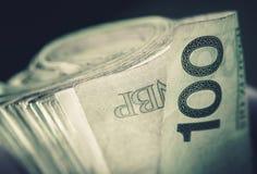 Свернутые польские банкноты злотого Стоковые Изображения