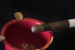 Свернутые сигары в группе Стоковое Изображение