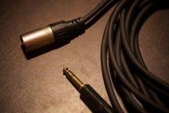 Свернутый вверх по детали кабеля, с jacks Стоковые Изображения