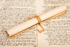 Свернутый пергамент Стоковая Фотография RF