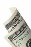 Свернутый 100 счетам Стоковое Фото