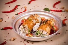 Свернутый vegetable салат Стоковые Изображения RF