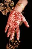Сверстница флористического дизайна красивой уникально татуировки хны индийская Стоковое фото RF