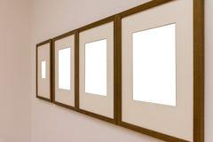 Сверстница Mo пустой белой стены изображения рамки художественной галереи белая Стоковые Изображения RF