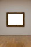 Сверстница Mo пустой белой стены изображения рамки художественной галереи белая Стоковые Фотографии RF