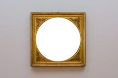 Сверстница Mo пустой белой стены изображения рамки художественной галереи белая Стоковое Изображение RF