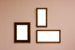Сверстница Mo пустой белой стены изображения рамки художественной галереи белая Стоковые Изображения